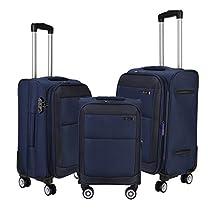Nasher Miles Manarola SoftSided Luggage Set of 3 Blue Trol