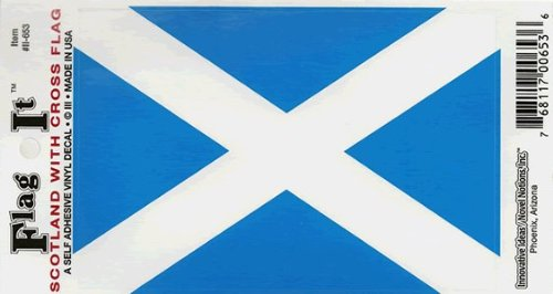 Scotland-Cross Heavy Duty Vinyl Bumper Sticker (3 x 5 Inches)