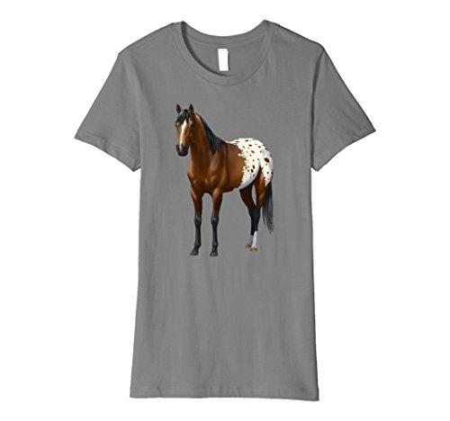 Womens Beautiful Brown Bay Appaloosa Horse T-shirt Small ...