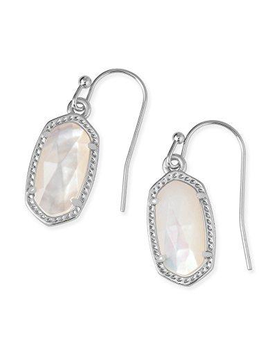 Kendra Scott Lee Silver Drop Earrings In Ivory Pearl (Necklace Womens Ivory)