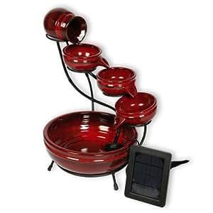 Bombillas con potencia máxima de rojo Solar Cascade función de agua de cerámica