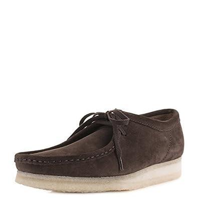 d7fd98a0443 Clarks Originals Wallabee pour homme Daim Marron foncé Modèle classique  chaussure décontractée - Marron - Marron foncé