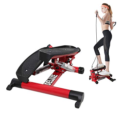 Livebest Mini Stepper Air Climber Step Machine Cardio Training Fitness Exercise Equipment with Adjustable Resistance Bands