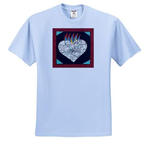 3dRose Marjesam-Art - The Heart of St. Louis - Toddler Light-Blue-T-Shirt (2T) (ts_310926_63)