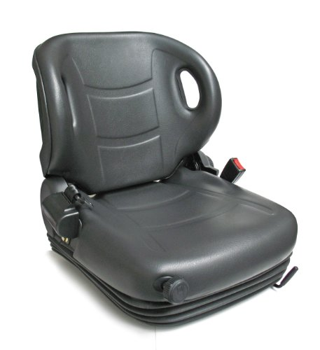Intella 01011080 Vinyl Forklift Full Suspension Seat with Safety Switch ()