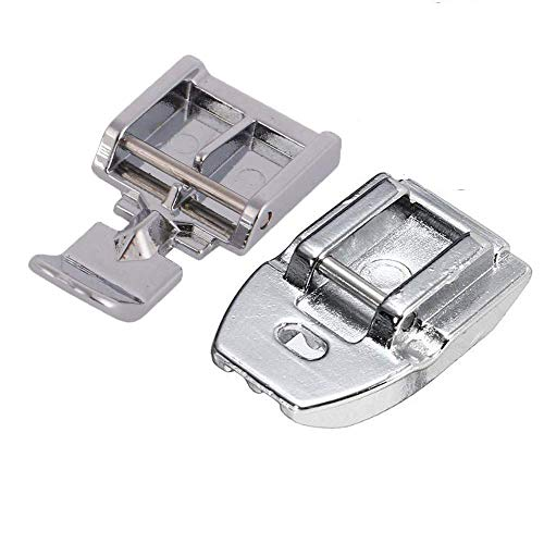 YaDu Packs of Zipper Sewing Machine Presser Foot and Concealed Invisible Zipper Foot for All Low Shank Snap-On Singer, Brother, Babylock, Janome, Kenmore, Juki, New Home, Elna (Machine Sewing Zipper Foot)