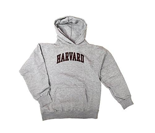 (Harvard Crimson NCAA Youth Printed Pullover Hoodie (Large, Heather Grey))