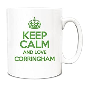 Verde KEEP CALM AND LOVE Corringham taza TXT 0176