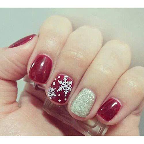 Kentop Plantilla de Placa de Impresión de uñas de Navidad Manicura Nail Art Decoración de uñas,6 * 12CM: Amazon.es: Hogar