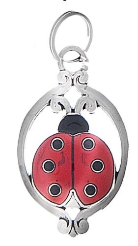 Red Metal Ladybug - Nothing But Luck Charm by Ganz