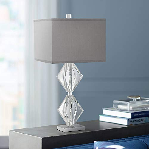 - Eileen Crystal Table Lamp with Gray Shade - Vienna Full Spectrum