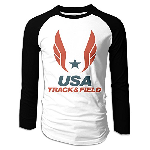 Boys Usa Track And Field USATF Logo Long Sleeve Raglan Baseball - Raglan Field