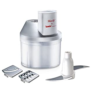 Bamix SliceSY Hand Blender Food Processor Attachment, White