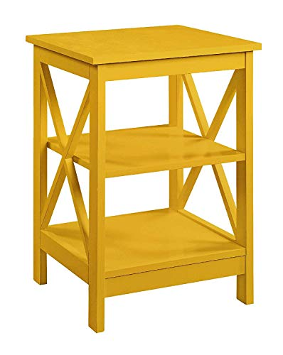 Convenience Concepts 203085Y Oxford End Table, Yellow (Yellow Table Accent)