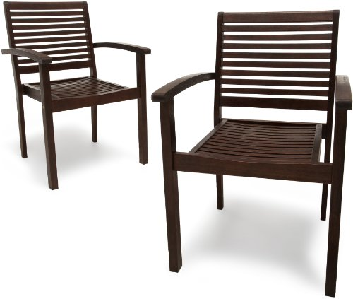 Strathwood Blakely Dining Arm Chair, Set of 2