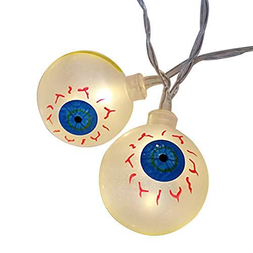 DTSC Imports Halloween 3D Eyeball 6-String Lights Battery