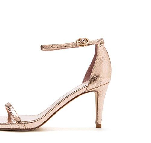 Sandali tacchi Fashion Lady Oro alti Sweet a Word DHG con spillo 39 Summer fibbia d0xwCYnU