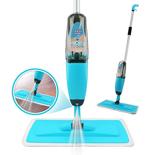 Spray Mop Strongest Heaviest Duty Mop - Best Floor Mop Easy to Use - 360 Spin Non Scratch Microfiber Mop with Integrated Sprayer - Includes Refillable 700ml Bottle & a Reusable Microfiber Pad.