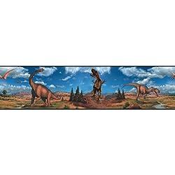 RoomMates RMK1042BCS Dinosaurs Peel and Stick Border
