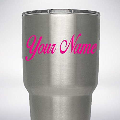 Your Name Text Custom Decal for YETI Rambler Tumbler 20 oz 30 Sticker - You pick Font