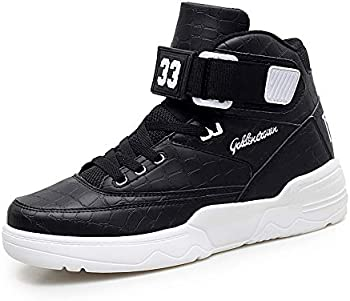 Hmulan Mens High-top Breathable Walking Fashion Sneakers