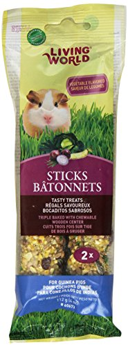 Guinea Pig Fruit Sticks - Living World Guinea Pig Veggie Treat Sticks, 4-Ounce