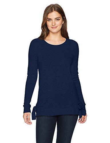 Lark & Ro Women's 100% Cashmere Sweater with Side Ties