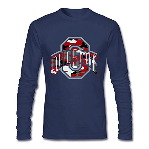 - Onam Men's Ohio State Buckeyes Logo Long Sleeve T Shirt M