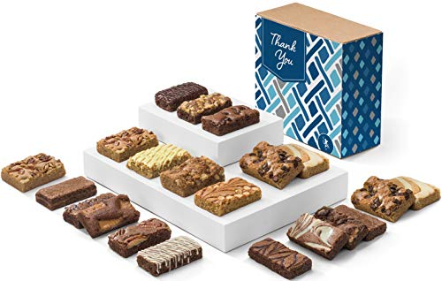 - Fairytale Brownies Thank You Bar & Sprite Combo Gourmet Chocolate Food Gift Basket - 3 Inch x 1.5 Inch Snack-Size Brownies and 3 Inch x 2 Inch Blondie Bars - 21 Pieces - Item CY382