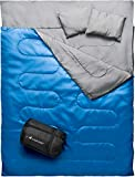 MalloMe Camping Sleeping Bag - 3 Season Warm & Cool Weather - Summer, Spring, Fall, Lightweight, Waterproof for Adults & Kids - Camping Gear Equipment, Traveling, and Outdoors