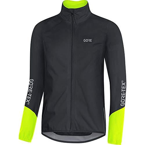 GORE WEAR C5 Chaqueta de ciclismo de hombre GORE-TEX, M, negro/amarillo neón