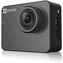 """EZVIZ Action Camera 1080p 60fps 8MP Sports Camera with Great Build Quality, Waterproof 131ft, 2"""" Touch Screen Interface,150 Degree Wide-Angle, Low-Light Mode and Built-in WiFi Bluetooth"""