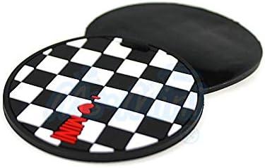 BJJS 2pcs Set 73mm weiche silikon-Cup-Halter-Auto-untersetzer f/ür All Mini Cooper f//r-Serie Trim 5