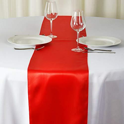 Mikash 12 x 108 Satin Table Runner Wedding Party Dinner Table Supply Decorations Sale | Model WDDNGDCRTN - 1964 | 6 pcs