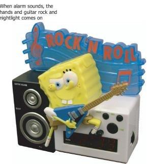 Spongebob Squarepants Alarm Clock with Nightlight