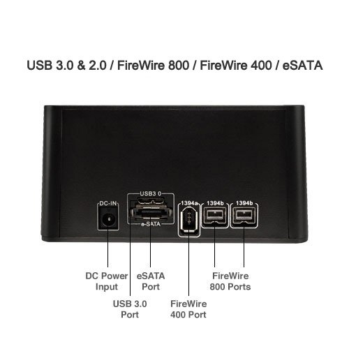 Newer Tech Voyager Q HDD Dock For 2.5''/3.5'' Sata Drive (NWTVU3ESFW8) by Newer Tech