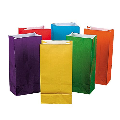 Fun Express Bright Color Paper Bags (3 Dozen) Dozen Bag