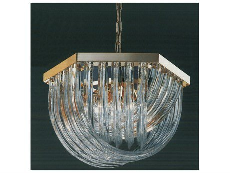 Classic Lighting 57045 Murano Glass Rods, Contemporary, Chandelier, 24k Gold (Murano Gold Chandelier)