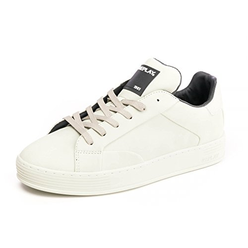 (Replay Mens Sneakers GMZ97 .003.C0001S Off Wht UK10 EU44 US11)