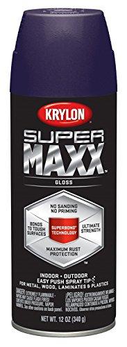 Krylon K08964000 SUPERMAXX All-In-One Spray Paint, Gloss Pur