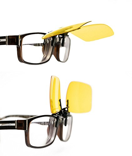 X ébnOyioMzbmGsement protectrice Jaune vision hommes soleil lunettes polariseur sports clip et de conduite Rectangle UV400 anti de 2 nuit femmes de neutres ski tir air nuit Parker paires lunettes vision 2 plein g6AqPA