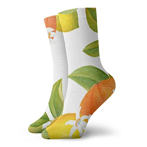 Crew Socks Watercolor Citrus Clipart Stylish Winter Warmth For -