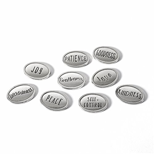 Crosby & Taylor Fruits of the Spirit Pewter Tokens, Set of 9