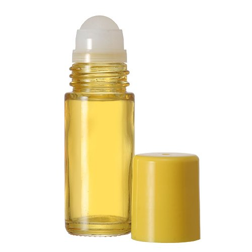 144 Pack Bottles 30 ML Clear Glass Roll On Matching Cap and Plastic Roller - Empty Containers for Essential Oil Aromatherapy Perfume Cologne Wholesale Quantities Available (Yellow) by The Parfumerie