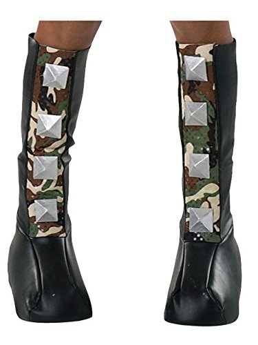 Biker Halloween Costumes Girl (Rubie's Costume Drama Queens Spiked Camouflage Boot Tops)