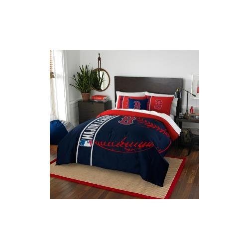 Mlb Comforter - The Northwest Co mpany MLB 836 Red Sox Full 3-piece Comforter Set