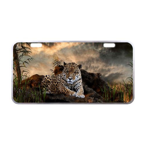 Leopard License Plate with Lightweight-11.8