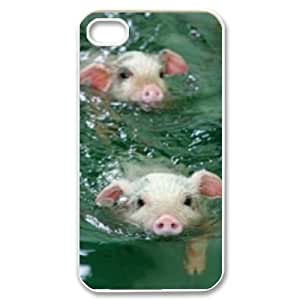 Pig DIY Cover Case for Iphone 4,4S,personalized phone case698238