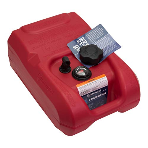 Attwood 8812LLPG2 EPA Certified 12 Gallon Low-Profile Portable Fuel Tank with - Tanks Attwood Fuel