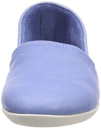 Softinos Ladies Olu382sof Lavato Chiuso Ballerine Blu (lavanda Blu)